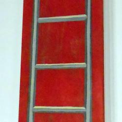 Grande échelle rouge