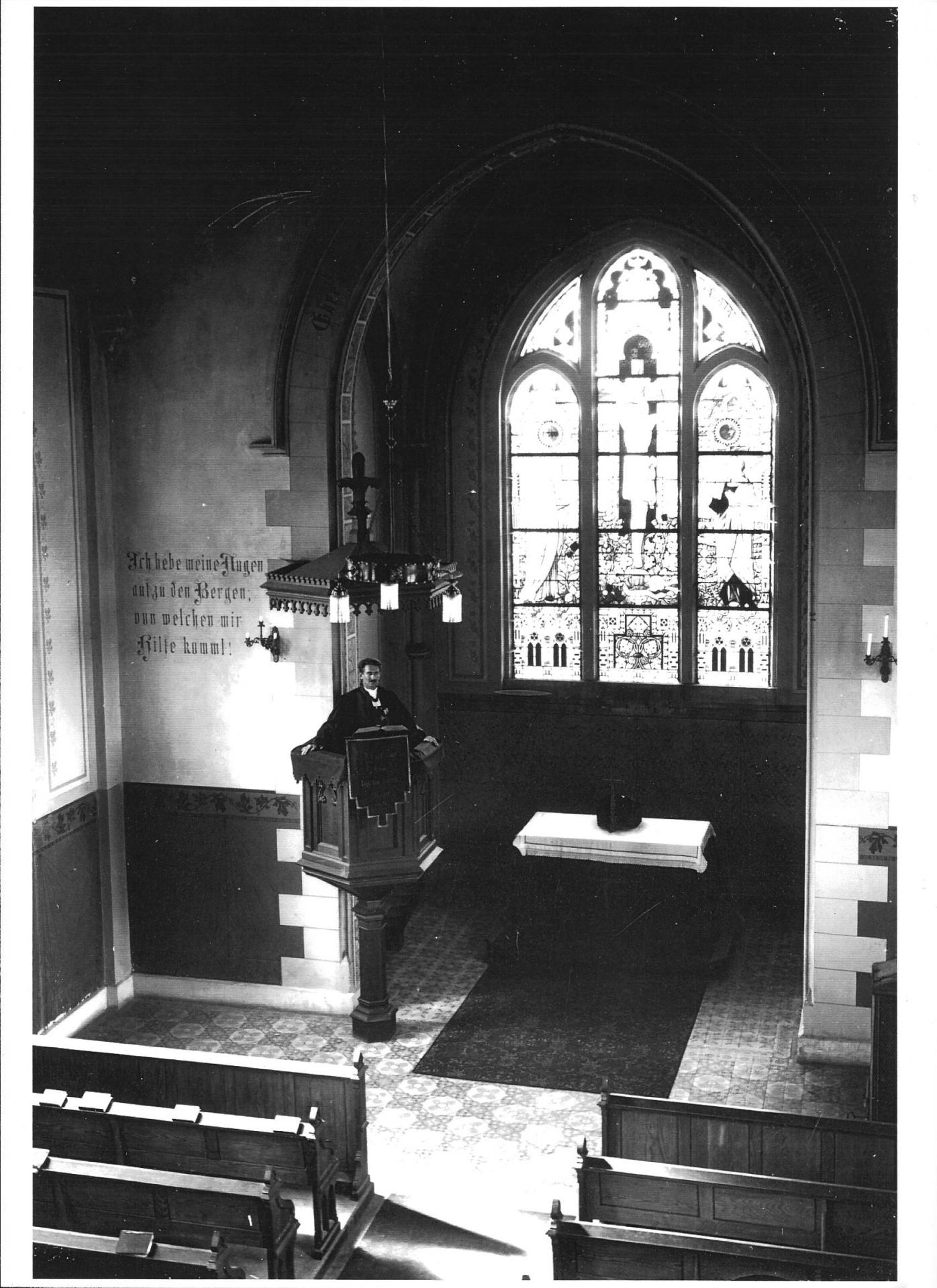 Interieur du temple avant 1968